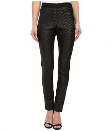 BCBGMAXAZRIA Nicolas Quilted Pleather Pant Black at Zappos