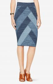 BCBGMAXAZRIA Patchwork pencil skirt at Bcbg