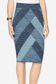 BCBGMAXAZRIA Patchwork pencil skirt at Shoptiques