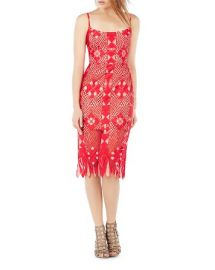 BCBGMAXAZRIA Sleeveless Lace Dress at Bloomingdales