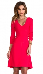 BCBGMAXAZRIA Sydney Dress in Red Berry  REVOLVE at Revolve