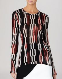 BCBGMAXAZRIA Top - Agda Long Sleeve Printed at Bloomingdales