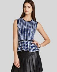 BCBGMAXAZRIA Top - Alyona Peplum Knit at Bloomingdales