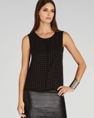 BCBGMAXAZRIA Top - Jules Cowl Studded at Bloomingdales