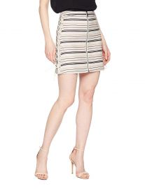 BCBGMAXAZRIA Women s Brittany Lace-up Mini Skirt at Amazon