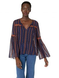 BCBGMAXAZRIA Women s Canyon Floral Embroidered Top at Amazon