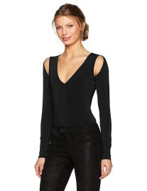 BCBGMAXAZRIA Women s Hilda Knit Cutout Bodysuit at Amazon