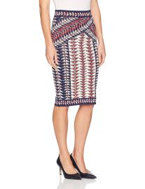 BCBGMAXAZRIA Women s Leger Jacquard Printed Knit Skirt at Amazon