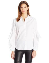 BCBGMAXAZRIA Women s Thelma Top White at Amazon