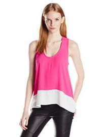 BCBGMAXAZRIA Womenand39s Allison Color Blocked Top at Amazon
