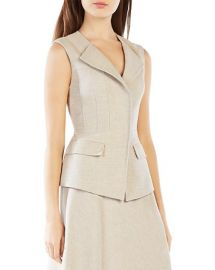 BCBGMAXAZRIA Zip-Front Vest at Bloomingdales