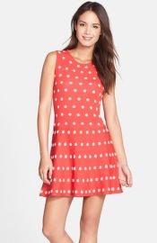 BCBGMAXAZRIA and39Joand39 Dotted Sweater Fit andamp Flare Dress at Nordstrom
