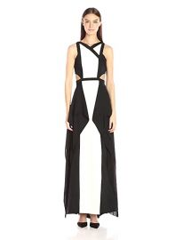 BCBGMax Azria Alyssia Woven Evening Gown at Amazon