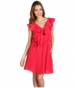 BCBGeneration Double Ruffle Sleeveless Dress at 6pm