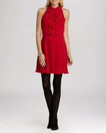 BCBGeneration Dress - Ruffle Front at Bloomingdales
