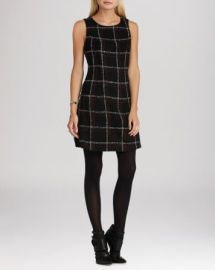 BCBGeneration Dress - Windowpane Plaid at Bloomingdales