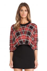 BCBGeneration Plaid Sweater at Revolve
