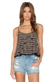 BCBGeneration Pom Pom Trim Crop Top at Revolve