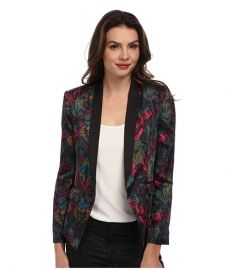 BCBGeneration Shell Collar Blazer DQR4H737 Viridian Combo at 6pm