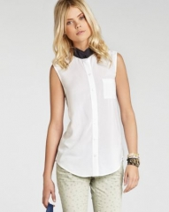 BCBGeneration Top - Contrast Collar at Bloomingdales