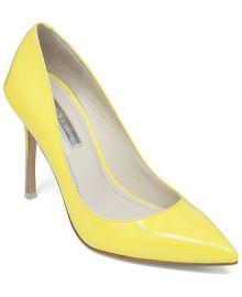 BCBGeneration Treasure Pumps in yellow at Macys