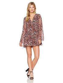 BCBGeneration Women s Printed Back Lace up Romper at Amazon