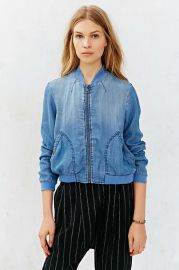 BDG Chambray Drapey Bomber Jacket f at Urban Outfitters