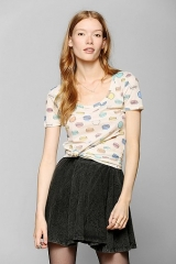 BDG Printed Scoopneck Tee at Urban Outfitters