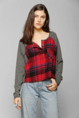 BDG Slumber Party Henley Top at Urban Outfitters