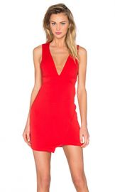 BEC amp BRIDGE Desert of Paradise Deep V Mini Dress in Red from Revolve com at Revolve