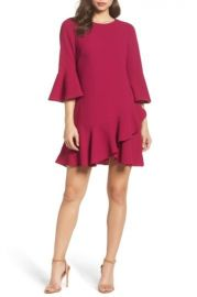 BELL SLEEVE FIT & FLARE DRESS at Nordstrom Rack
