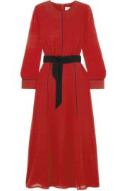 BELTED VOILE MIDI DRESS at Net A Porter