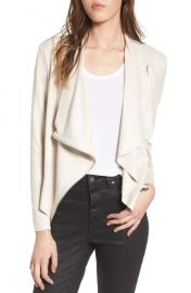 BLANKNYC Drape Front Faux Suede Jacket at Nordstrom