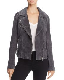 BLANKNYC Suede Moto Jacket charcoal at Bloomingdales