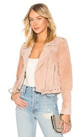 BLANKNYC Belted Suede Jacket in Candy Crush from Revolve com at Revolve
