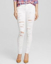 BLANKNYC Jeans - Shredded Skinny in White at Bloomingdales