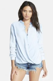 BLANKNYC Sugar Baby Shirt in Light Wash Blue at Nordstrom