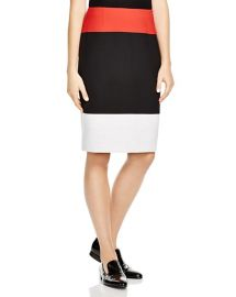 BOSS Vivina Color-Blocked Pencil Skirt at Bloomingdales