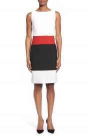 BOSS  Divana  Colorblock Sleeveless Ponte Sheath Dress at Nordstrom