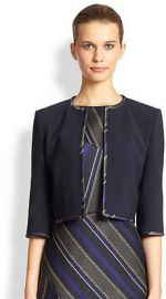 BOSS HUGO BOSS - Contrast-Trim Cropped Jacket at Saks Fifth Avenue
