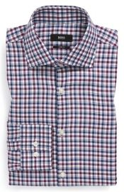 BOSS HUGO BOSS and39Milesand39 Sharp Fit Plaid Dress Shirt at Nordstrom