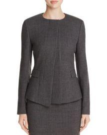 BOSS Jadela Asymmetric Wool Jacket at Bloomingdales