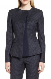 BOSS Jadela1 Windowpane Jacket  Regular  amp  Petite at Nordstrom