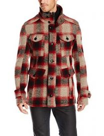 BOSS Orange Menand39s Red Plaid Field Jacket with Nylon Inlay at Amazon
