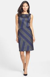 BOSS and39Delmiraand39 Stripe Front Sheath Dress at Nordstrom