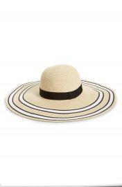 BP  Stripe Floppy Brim Straw Hat at Nordstrom
