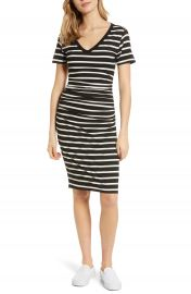 BP  Stripe Ruched Body-Con Dress at Nordstrom