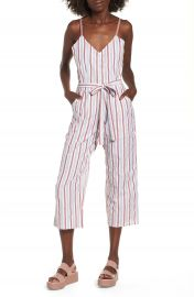 BP  Stripe Tie Waist Jumpsuit at Nordstrom