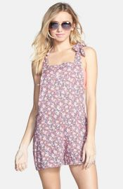 BP Floral Print Short Overalls at Nordstrom