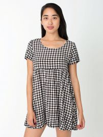 Babydoll gingham dress at American Eagle